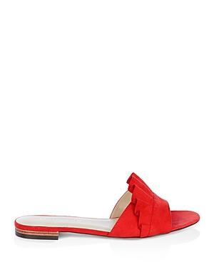 Karen Millen Ruffle Slide Sandals