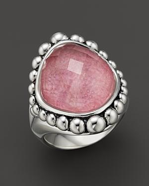 Lagos Rhodochrosite Doublet Ring