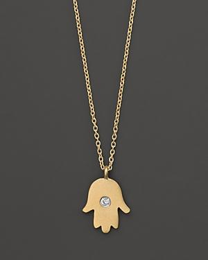 Meira T 14k Yellow Gold Hamsa Necklace, 16