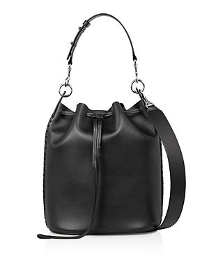 Allsaints Ray Leather Bucket Bag