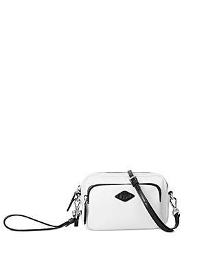 Mz Wallace Gramercy Mini White & Black Crossbody