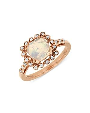 Bloomingdale's Opal & Diamond Accent Ring In 14k Rose Gold - 100% Exclusive