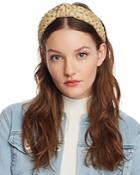 Lele Sadoughi Embellished Metallic Knot Headband