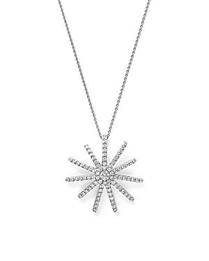 Bloomingdale's Diamond Starburst Pendant Necklace In 14k White Gold, 0.50 Ct. T.w. - 100% Exclusive