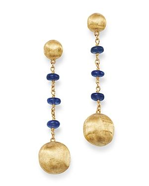 Marco Bicego 18k Yellow Gold Africa Precious Sapphire Drop Earrings