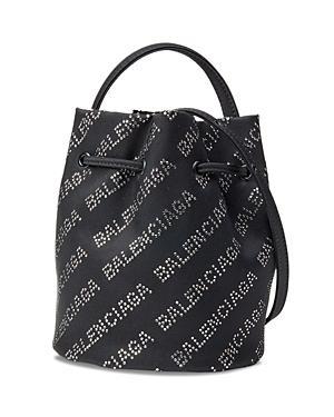 Balenciaga Wheel Drawstring Bucket Bag