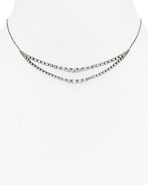 Nadri Gladys Double Line Necklace, 14