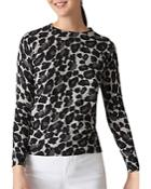 Whistles Leopard Print Sweater