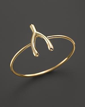 Zoe Chicco 14k Yellow Gold Small Wishbone Ring