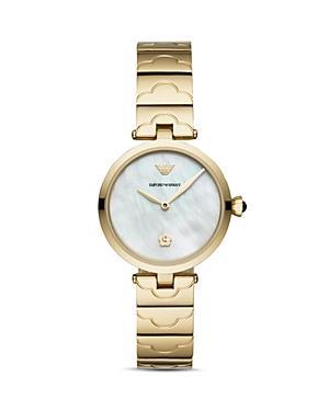 Emporio Armani Armani Ladies Gold-tone Link Bracelet Watch, 32mm