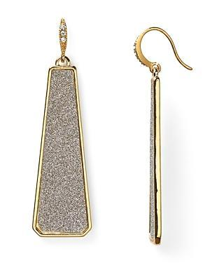 Abs By Allen Schwartz Glitter Linear Earrings