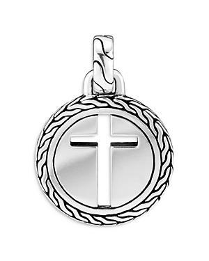 John Hardy Sterling Silver Classic Chain Cross Pendant