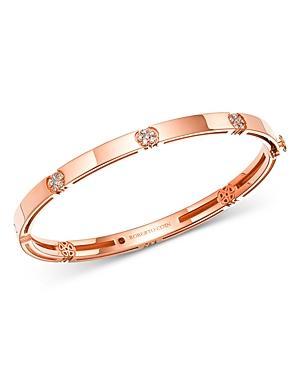 Roberto Coin 18k Rose Gold Diamond Daisy Bangle Bracelet