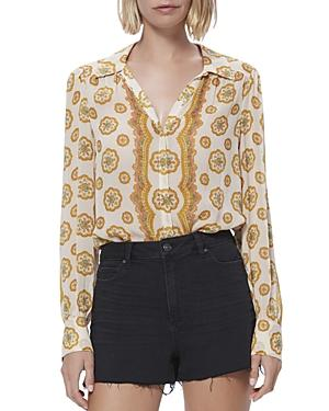 Paige Caraway Silk Printed Blouse