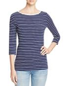 Three Dots Betty Striped Tee