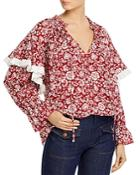 See By Chloe Cotton Voile Peonies Blouse