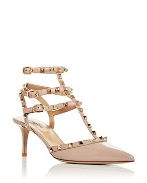Valentino Garavani Women's Rockstud Cage Pointed Toe Pumps