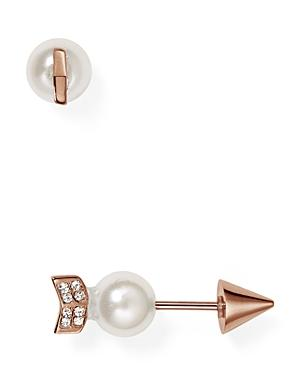 Rebecca Minkoff Faux Pearl Arrow Front-back Earrings