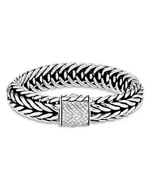 John Hardy Sterling Silver Classic Chain Kami Diamond Medium Chain Link Bracelet