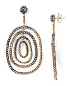 Roni Blanshay Two-tone Swarovski Crystal Drop Earrings