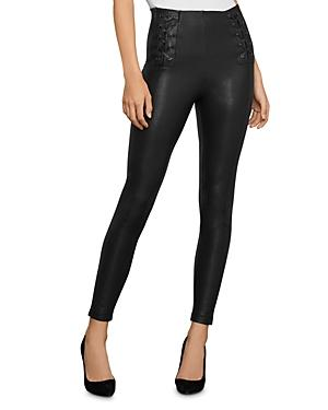 Bcbgmaxazria Lace-up Faux Leather Leggings