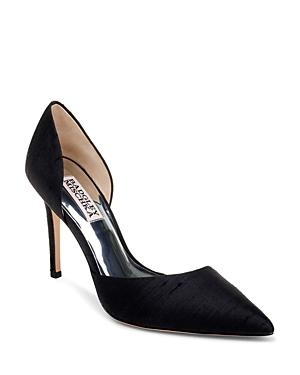 Badgley Mischka Women's Lola Silk High-heel Pumps