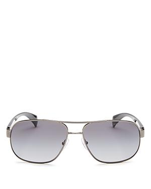 Prada Men's Polarized Brow Bar Sunglasses, 61mm