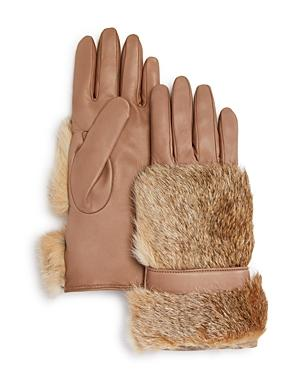 Bloomingdale's Rabbit Fur Gloves