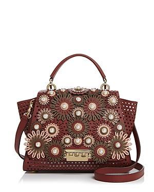 Zac Zac Posen Eartha Kit Medium Floral Leather Satchel