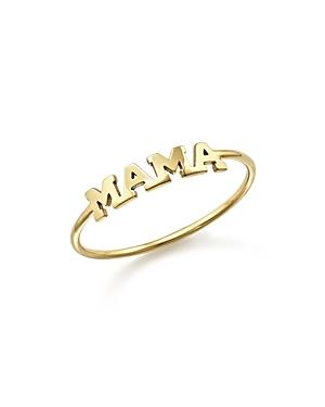 Zoe Chicco 14k Yellow Gold Mama Ring