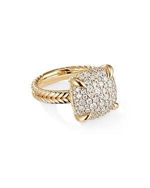 David Yurman Chatelaine Ring With Diamonds In 18k Yellow Gold