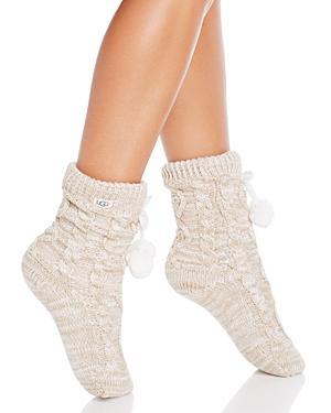 Ugg Pompom Fleece-lined Socks