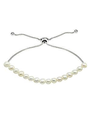Aqua Cultured Freshwater Pearl Slider Bracelet - 100% Exclusive