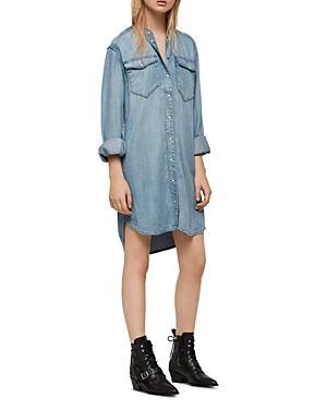 Allsaints Loe Denim Shirt Dress
