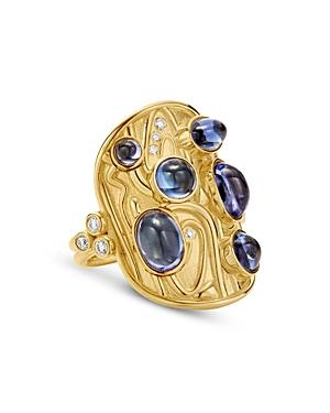 Temple St. Clair 18k Yellow Gold Isola Tanzanite & Diamond Ring