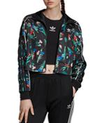 Adidas Floral Cropped Track Jacket