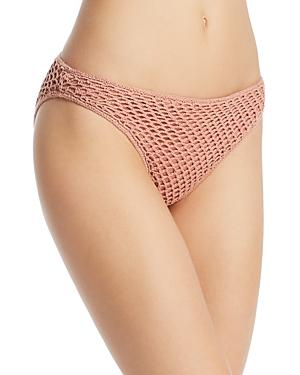 Minkpink Adrift Crochet Basic Bikini Bottom