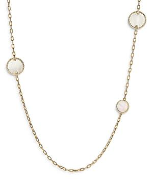 David Yurman 18k Yellow Gold Dy Elements Station Necklace With Black Onyx & Mother Of Pearl, 36
