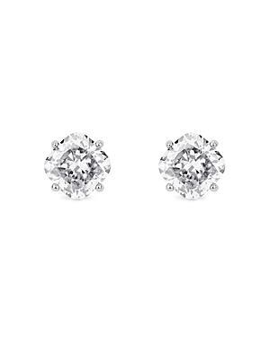 Lightbox Lab-grown Diamond Cushion Stud Earrings In 10k White Gold