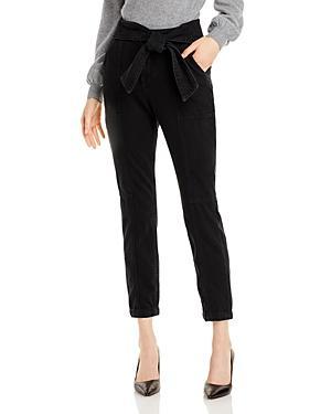 Jonathan Simkhai Standard Bower Tie Waist Denim Cargo Pants In Noir