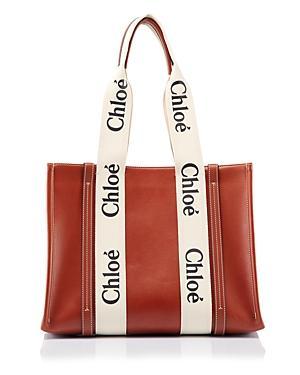 Chloe Woody Medium Leather Tote