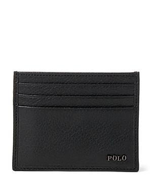 Polo Ralph Lauren Metal Plaque Leather Card Case