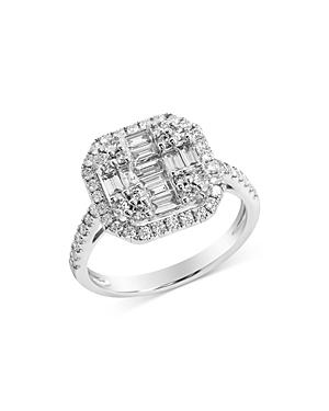 Bloomingdale's Diamond Baguette & Round Mosaic Ring In 18k White Gold, 0.95 Ct. T.w. - 100% Exclusive