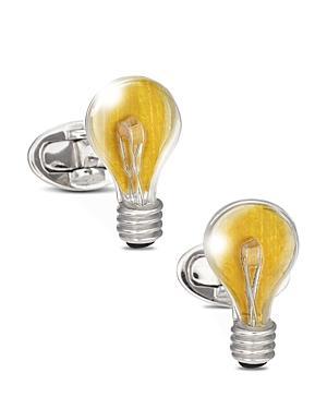 Jan Leslie Sterling Silver Light Bulb Cufflinks