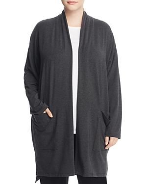 Eileen Fisher Plus Drop Shoulder Duster Cardigan