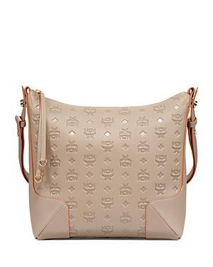 Mcm Klara Medium Monogram Leather Hobo Bag