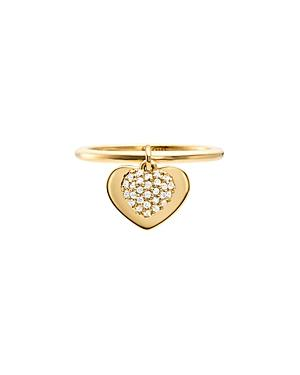 Michael Kors Pave Heart Duo Ring