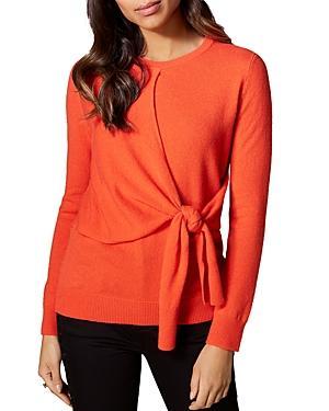 Karen Millen Tie-front Cashmere Sweater