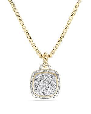 David Yurman Albion Pendant With Diamonds In 18k Gold, 14mm