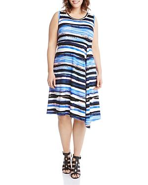 Karen Kane Plus Abstract Stripe Dress